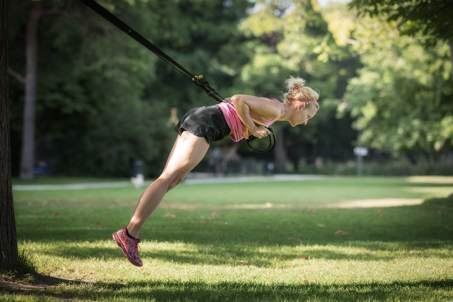 Übung, um Gewicht zu verlieren Arme und nassen Rücken